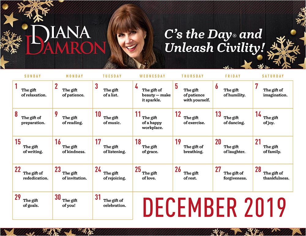 December 2019 Calendar by Diana Damron