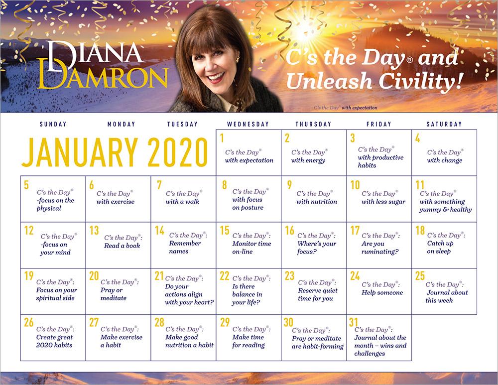 January 2020 Calendar by Diana Damron