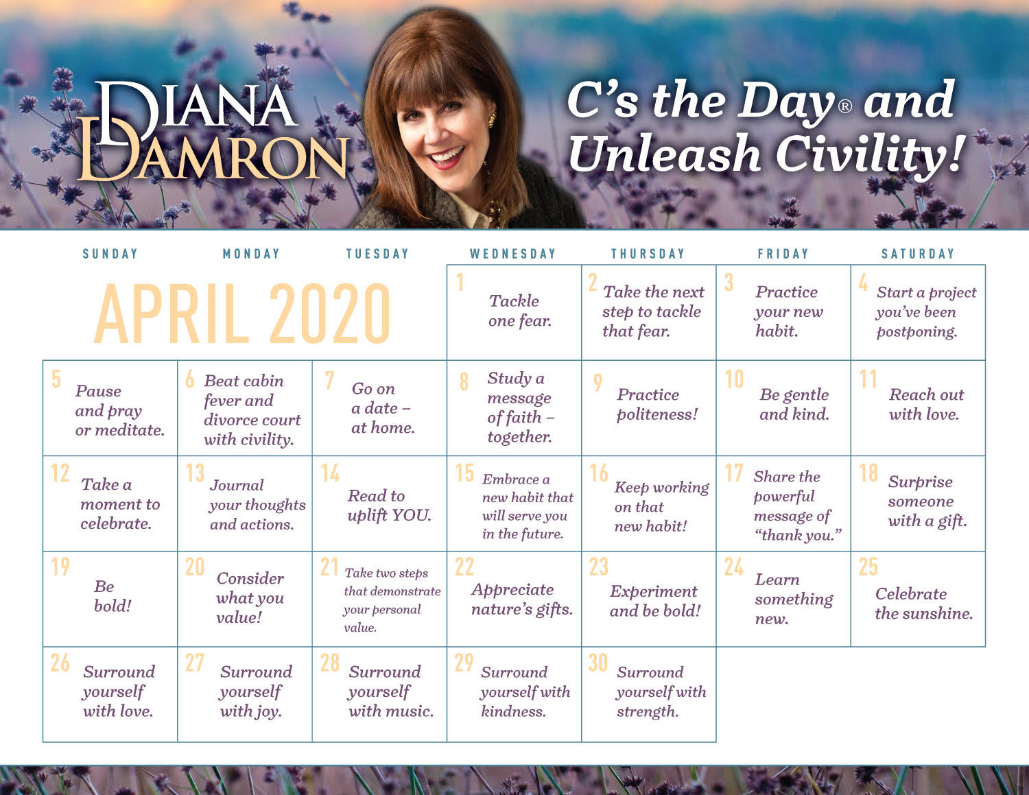 Diana's April Calendar by Diana Damron