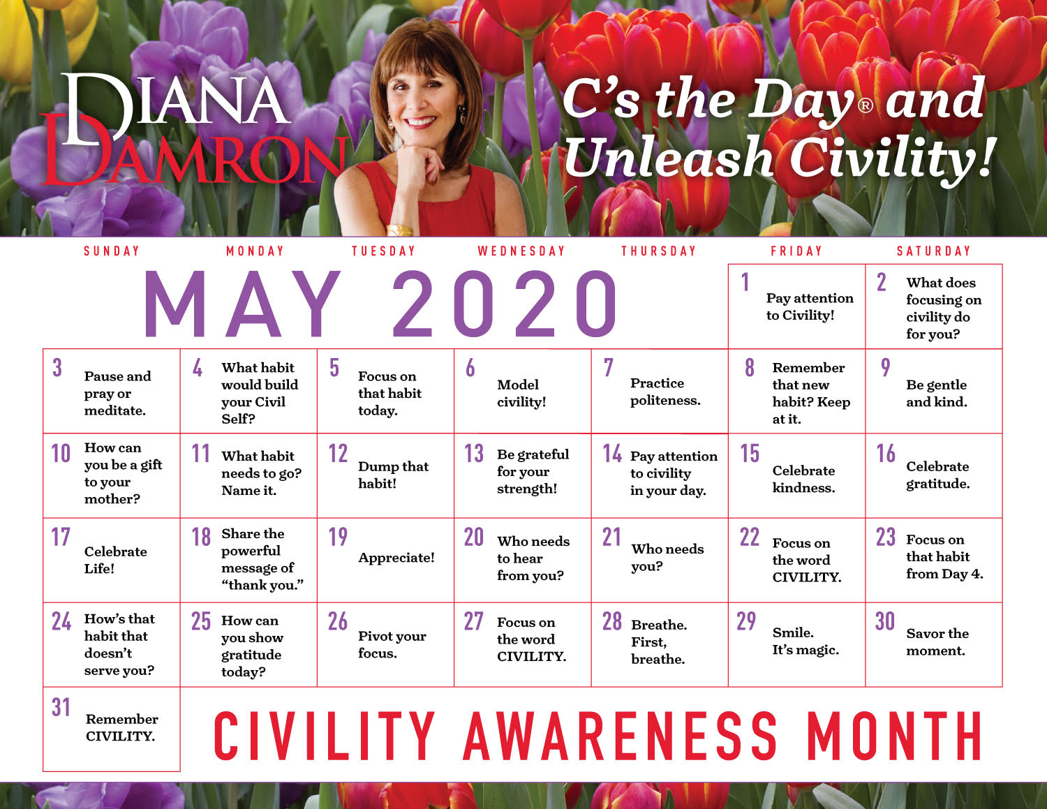 May 2020 Calendar by Diana Damron