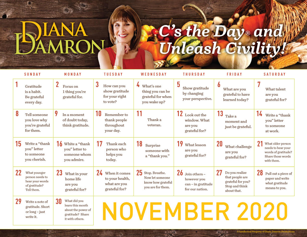 November 2020 Calendar by Diana Damron