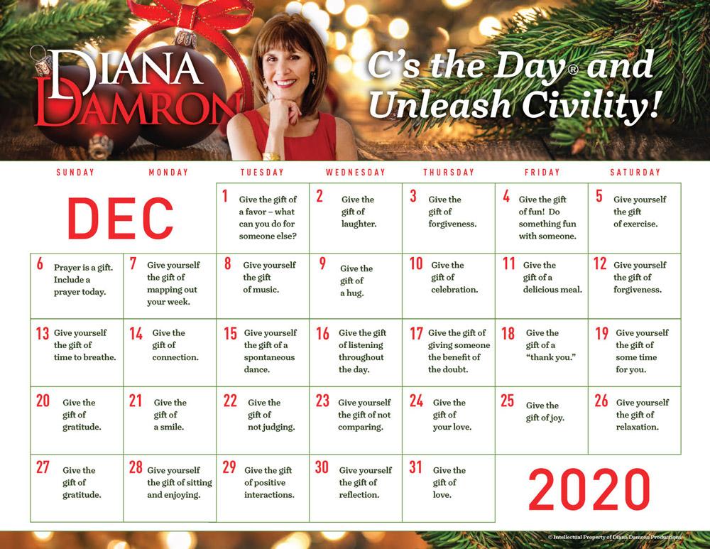 December 2020 Calendar by Diana Damron