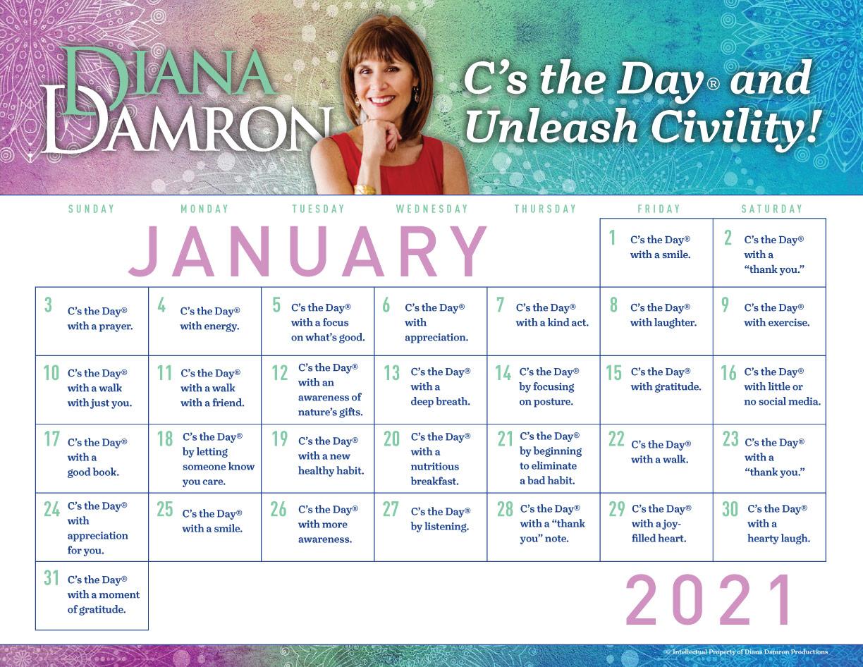 January 2021 Calendar by Diana Damron