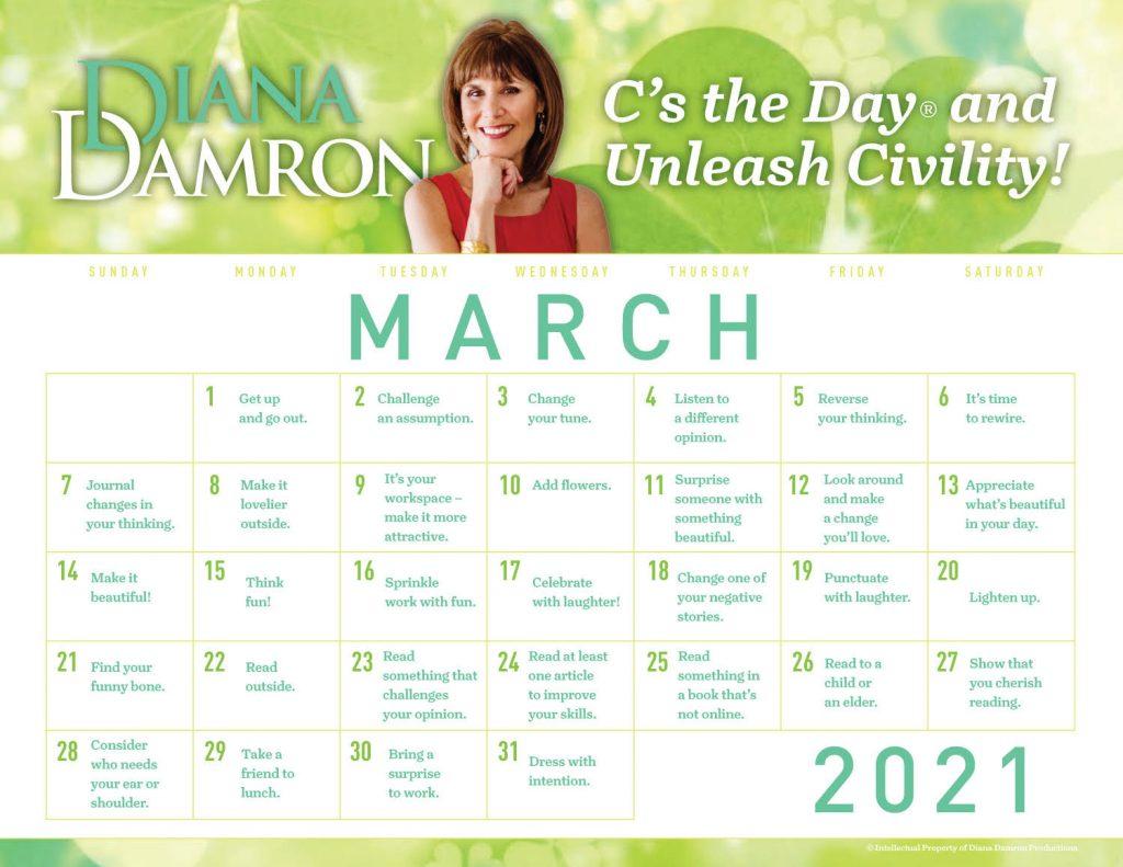 March 2021 Calendar by Diana Damron