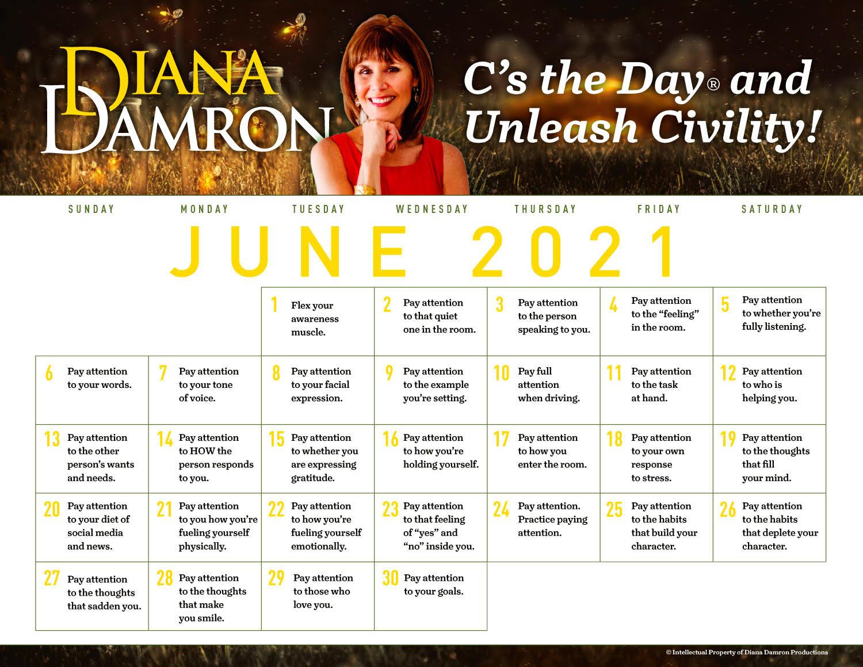 June 2021 Calendar by Diana Damron